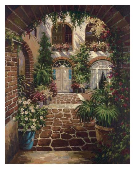 Courtyard Vista-Twindini-Art Print