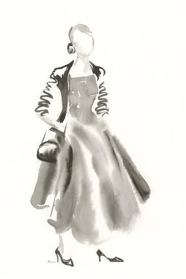Couture Noir - Satin-Deborah Pearce-Art Print