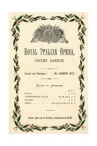 Covent Garden Advert.