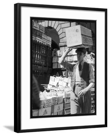 Covent Garden/Crates--Framed Photographic Print