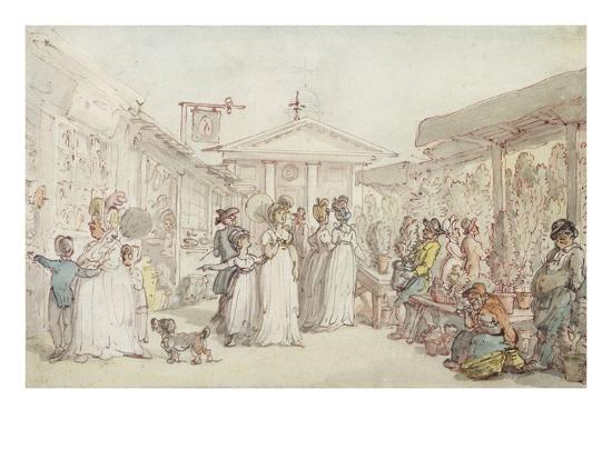 Covent Garden Market, C.1795-1810 (Pen and Ink, W/C and Pencil on Wove Paper)-Thomas Rowlandson-Giclee Print