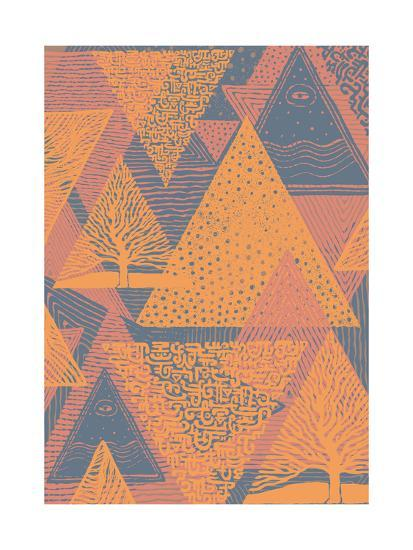 Cover Design with Triangles. Vector Illustration.-jumpingsack-Art Print