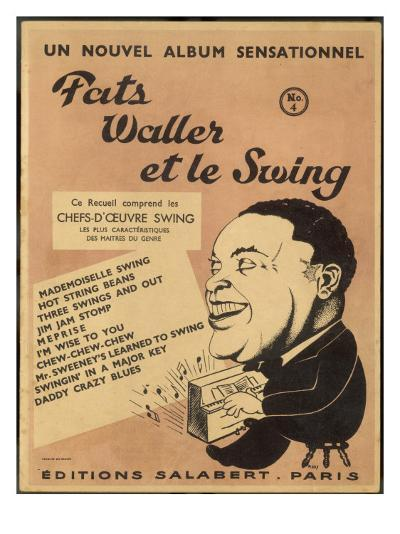 Cover for Album of Swing Compositions Featuring Fats Waller, Dated 1938 to 1942--Giclee Print