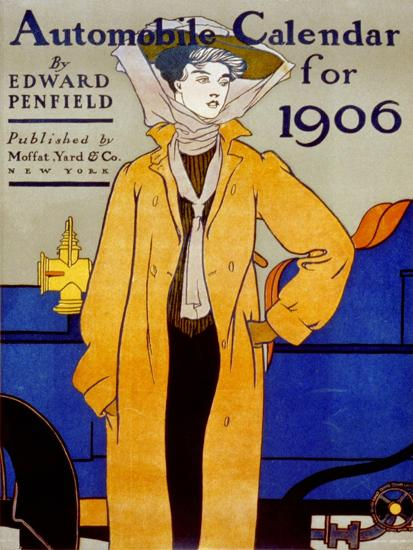 Cover for Automobile Calendar of 1906-Edward Penfield-Art Print