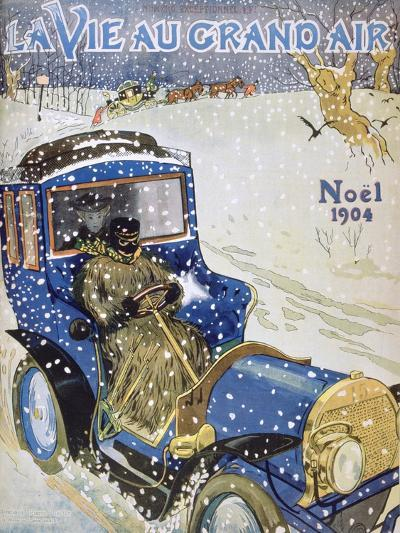 Cover for the Christmas Issue of the Magazine La Vie Au Grand Air, 1904--Giclee Print