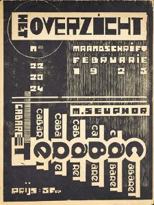Cover for the Magazine 'Het Overzicht', C. 1921-1925