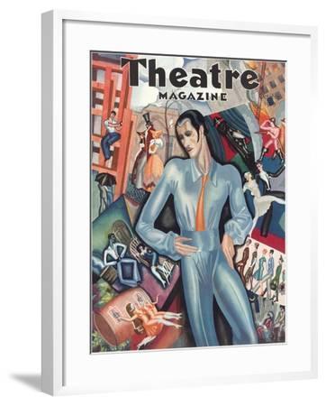 Cover for Theatre Magazine--Framed Art Print