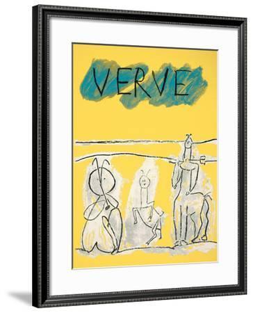 Cover For Verve, c.1951-Pablo Picasso-Framed Serigraph