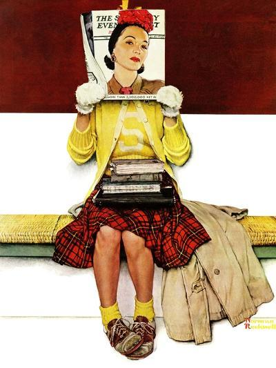 """""""Cover Girl"""", March 1,1941-Norman Rockwell-Giclee Print"""
