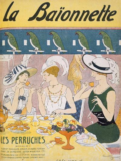 Cover Illustration from 'La Baionnette' Magazine, 1914-18 (Colour Litho)-French-Giclee Print