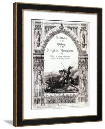 Cover of 'A Sketch of the History of the Knights Templars', by James Burnes--Framed Giclee Print