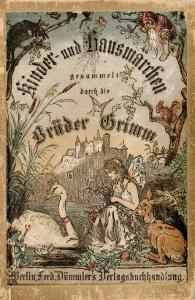 Cover of Brothers' Grimm Tales from a German Edition Published in Berlin, 1865