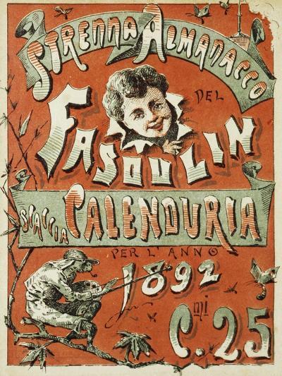Cover of Christmas Almanac of Fasulin for 1892--Giclee Print