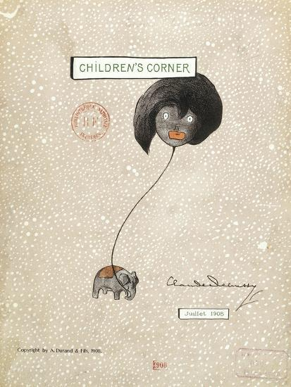 Cover of First Edition of Score for Children's Corner, Suite for Solo Piano by Claude Debussy--Giclee Print
