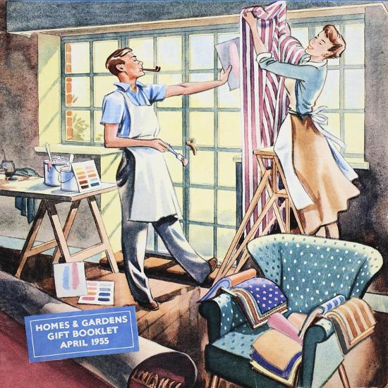 Cover of 'Homes and Gardens Gift Booklet', April 1955--Giclee Print