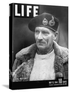 Cover of Life Magazine Dated 05-15-1944 with Pic of General Montgomery; Photo by George Rodger