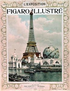 "Cover of Magazine ""Le Figaro Illustre"" : World Fair in Paris, 1900 : Eiffel Tower, Engraving"