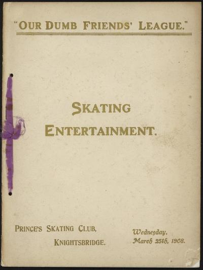 Cover of 'Our Dumb Friends' League' Programme of Skating Entertainment--Giclee Print