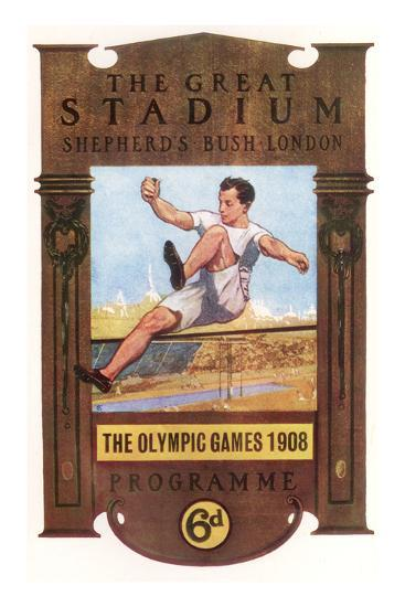 Cover of Programme for 1908 Olympic Games in London--Giclee Print