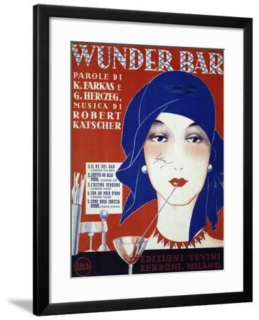 Cover of Sheet Music for Wunder Bar Musical--Framed Giclee Print