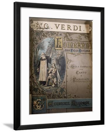 Cover of Sheet Music of Opera I Lombardi Alla Prima Crociata--Framed Giclee Print