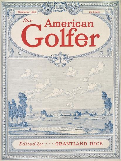 Cover of The American Golfer magazine, December 1928-Unknown-Giclee Print