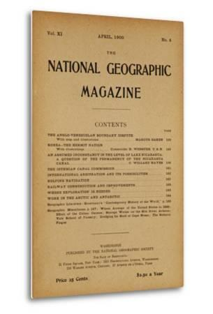 Cover of the April, 1900 National Geographic Magazine