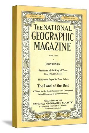 Cover of the April, 1916 National Geographic Magazine