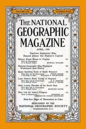 Cover of the April, 1956 National Geographic Magazine