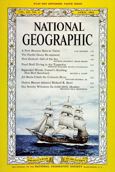 Cover of the April, 1962 National Geographic Magazine-Luis Marden-Photographic Print