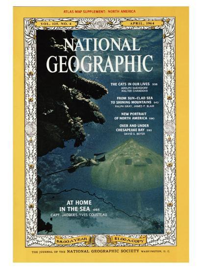 Cover of the April, 1964 National Geographic Magazine-Robert Goodman-Photographic Print
