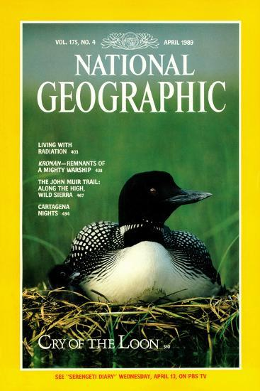 Cover of the April, 1989 National Geographic Magazine-Michael S^ Quinton-Photographic Print