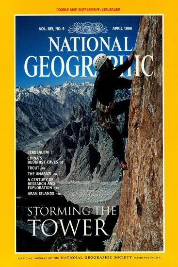 Cover of the April, 1996 National Geographic Magazine-Bill Hatcher-Photographic Print