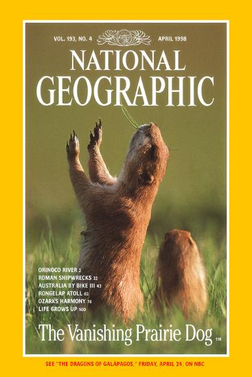 Cover of the April, 1998 National Geographic Magazine-Raymond Gehman-Photographic Print