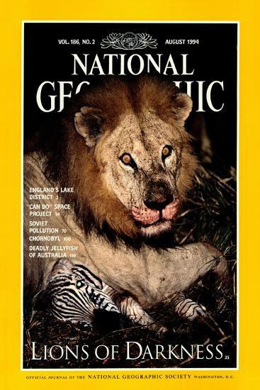 Cover of the August, 1994 National Geographic Magazine-Beverly Joubert-Photographic Print