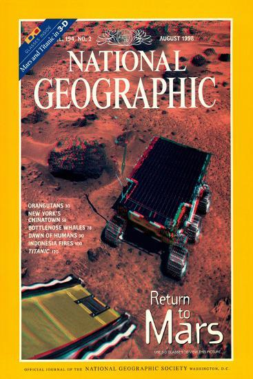 Cover of the August, 1998 National Geographic Magazine--Photographic Print