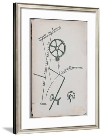 Cover of the Collection of Poems 'Pensees Sans Langage'--Framed Giclee Print
