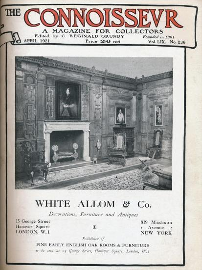 Cover of The Connoisseur, April 1921-Unknown-Giclee Print