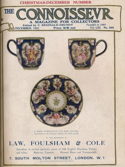 Cover of The Connoisseur, December 1921-Unknown-Giclee Print