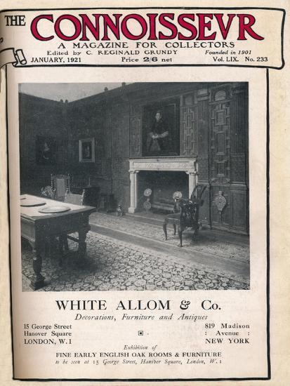 Cover of The Connoisseur, January 1921-Unknown-Giclee Print