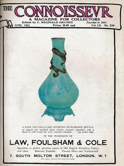 Cover of The Connoisseur, June 1921-Unknown-Giclee Print