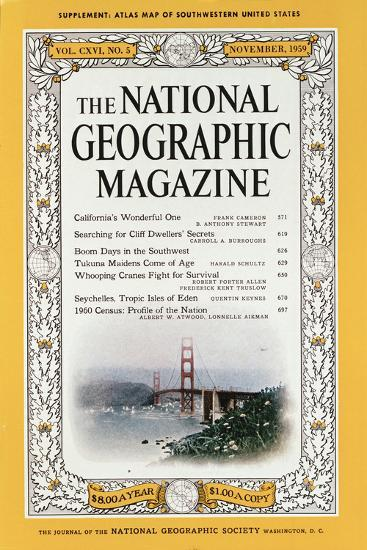 Cover of the December, 1959 National Geographic Magazine-B^ Anthony Stewart-Photographic Print