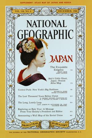 Cover of the December, 1960 National Geographic Magazine
