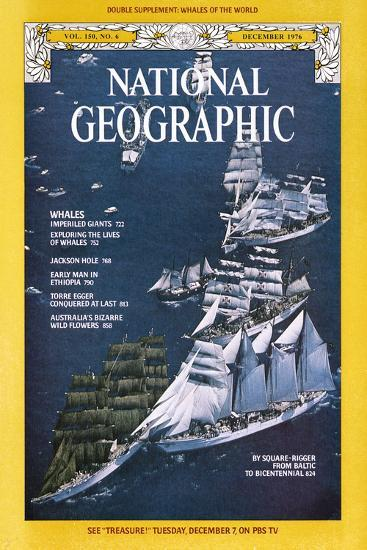 Cover of the December, 1976 National Geographic Magazine-Gilbert M^ Grosvenor-Photographic Print
