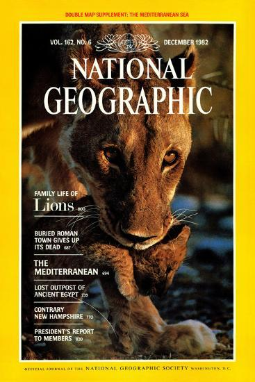 Cover of the December, 1982 National Geographic Magazine-Des & Jen Bartlett-Photographic Print
