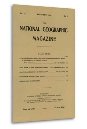 Cover of the February, 1900 National Geographic Magazine