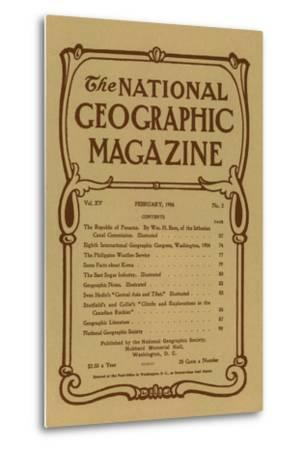 Cover of the February, 1904 National Geographic Magazine