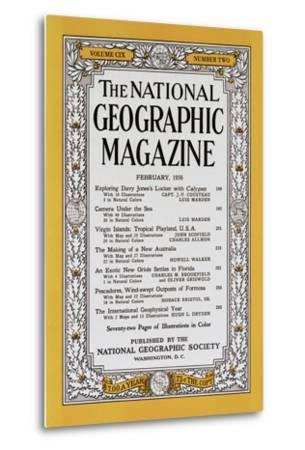 Cover of the February, 1956 National Geographic Magazine
