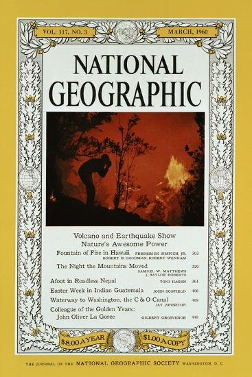 Cover of the February, 1960 National Geographic Magazine-Black Star-Photographic Print