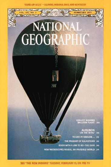 Cover of the February, 1977 National Geographic Magazine-Otis Imboden-Photographic Print